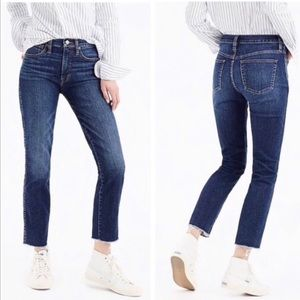 J. Crew Vintage Cropped Jeans Raw Hem High Waisted